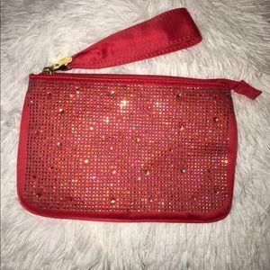Handbags - Red rhinestone clutch